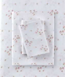 Rachel Ashwell Simply Shabby Chic Sprinkles Rosebuds Queen Poly Sheet Set NIP