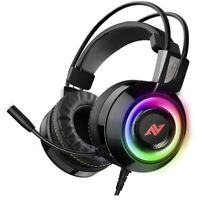 ABKONCORE CH60 Gaming Headset with True 7.1 Surround Sound for PC, PS4, Laptop