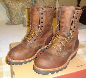 Red Wing Boots, Work Boots, LoggerMax 4417, Steel Toe, 9-Inch, 9.5D Size,
