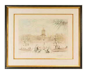 "Salvador Dali ""L'Académie de Paris"" Farbradierung hands. Michler/ Löpsinger 514a"