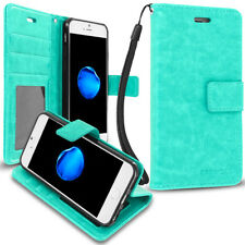 Apple iPhone 7 Plus [5.5] PROWORX Wallet Case Credit Card ID Slots Mint Green