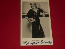 Simone Simon - signiert - Autogrammkarte - signed - Autograph - 1