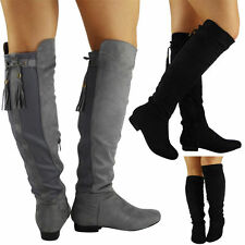 Cuban Heel Knee High Boots Casual Shoes for Women