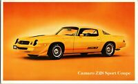 Camaro Z28 Sport Coupe 2 Door Dealer Promo Advertisement Postcard P1