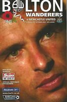 Football Programme - Bolton Wanderers v Newcastle Utd - Premiership - 31/10/2004