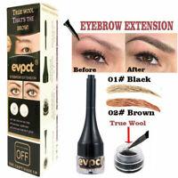 Waterproof 3D Eyebrow Hair Extensions / Fiber Building Eye Brow Hair Gel Liquid