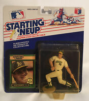 NEW~JOSE CANSECO ~ OAKLAND ATHLETICS ~ 1989 Kenner Starting Lineup Action Figure