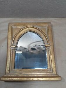 Vintage R. M. KULICKE Collection Gothic Arch Cathedral Framed Mirror 9.5 x 10.7