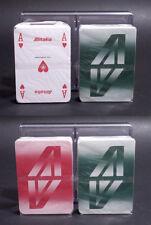 2 MAZZI CARTE DA GIOCO POKER ALITALIA By ASS - SIGILLATE 1970 ca.