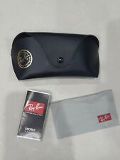 AUTHENTIC! Ray Ban Black  Sunglasses/Glasses Case with cleaning  cloth