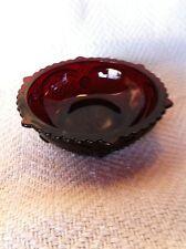 "NOS AVON 1876 CAPE COD RUBY RED 5"" SMALL FRUIT/DESSERT BOWL"