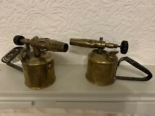 Pair Of Vintage Brass Blow Lamp Torches - Governor And Primus
