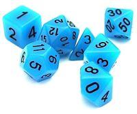 RPG Würfel Set 7 teilig Poly DND Tabletop Bones dice4friends Rollenspiel w4-w20