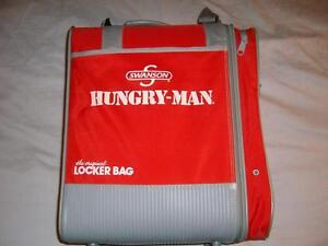 Swanson Hungry-Man Red Original Locker Bag O'GIO w/ Accessories Overnight Gym