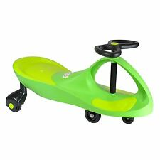 SWING CAR RIDE ON SWIVEL SCOOTER WIGGLE GYRO TWIST & GO KIDS RIDE-ON CAR GREEN