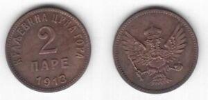 MONTENEGRO - 2 PARE XF COIN 1913 YEAR KM#17 CRNA GORA
