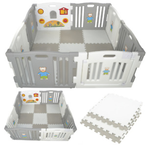 Baby Playpen Plastic Play Pen for Toddlers With Playmats