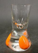 Jugendstil Schnapsglas - mundgeblasenes Glas mit drei aufgelegten Nuppen