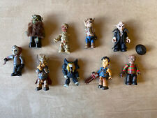 Freddy, Jason, Ash, & More - Mezco- Mini Figures -Random Lot Of 9 - 2002-2011