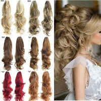 2Pcs Claw Clip Ponytail Hair Extension, Curly, Thick, Long, Natural Looking Hair