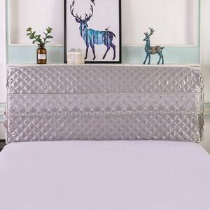 Modern Luxury Silk-like Bedroom Headboard Slipcover Protector Bed Grey 180cm