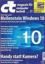 c't Magazin, Heft 17/2015 vom 11.07.2015: Meilenstein Windows 10  ++ wie neu ++