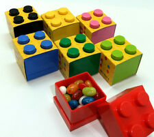LEGO LUNCH/STORAGE MINI BOX 4 FOR SMALL SNACKS 7 COLOURS