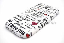 For Samsung Galaxy S III S3 i love you Black White TPU Case Soft Gel Skin Cover