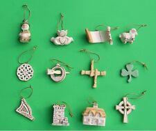 LENOX LUCK of the IRISH 12 miniature Tree Ornaments set NEWnBOX St. Patricks Day