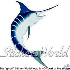 PESCE Marlin blu, Pesce Spada 140mm Adesivo in vinile, bustina