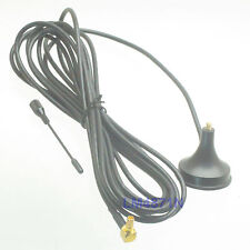 Antenna 900/1800 Mhz 3dbi Gsm Gprs Ts9 male Ra 90°Gold Magnetic 3M Rg174 cable