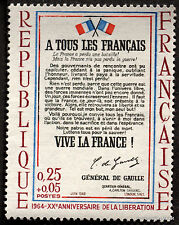 FRANCE - Yvert 1408 - APPEL du 18 JUIN du GENERAL DE GAULLE  -Timbre  neuf **