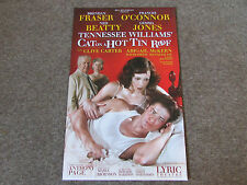 TENNESSEE Williams in CAT on a HOT Tin Roof LYRIC Theatre Original Poster
