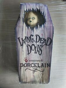 """Living Dead Doll 18"""" PORCELAIN POSEY Limited Edition Coffin Box Mezco"""