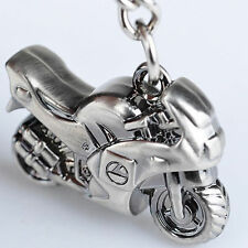 Metal Silver Motorcycle Key Ring Keychain Creative Gift Sports Keyring New