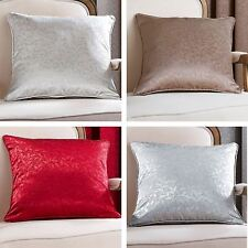 """Catherine Lansfield 18"""" x 18"""" Jacquard Leaf Cushion Covers Piped Edging FREE P&P"""
