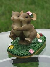 "Charming Tails Mouse Couple Dance It Takes 2 Tango Love Fitz Floyd 84/105 3""H"
