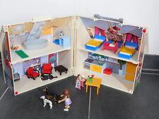 PLAYMOBIL geobra 2005 valise MAISON HOUSE Carry Case LIT CUISINE haus PERSONNAGE