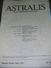 Astralis N° 18 Revue d'astrologie Support zodicaux thème de prostituées Fantome