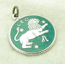 "Vintage JMF Fisher Sterling Silver Enamel ""Leo"" Zodiac Sign Bracelet Charm"