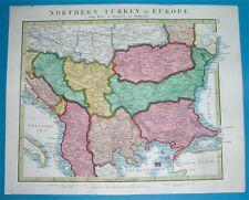 1841 RARE NICE ORIGINAL MAP SERBIA CROATIA ROMANIA BULGARIA MONTENEGRO ALBANIA