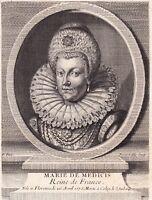 Portrait XVIIIe Marie de Médicis Maria de' Medici Reine de France