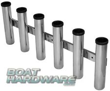 Deluxe Side Mount Rod Holder 6 Way Combing Rack 316 Stainless Steel Viper Pro