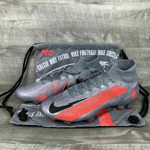 Nike Mercurial Superfly 7 Elite FG Grey/Laser Crimson/Black AQ4174-906 Size 8