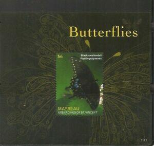 Grenadines Of St Vincent / 2011 Mayreau Butterflie , Souvenir sheet . MNH