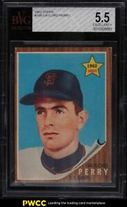 1962 Topps Gaylord Perry ROOKIE RC #199 BVG 5.5 EX+