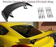 FOR 13-16 PORSCHE 981 CAYMAN GT4 STYLE REAR TRUNK SPOILER WING UNPAINT
