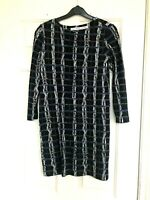 And Other stories Fitted Stretch Check Dress Black 3/4 Sleeve Size 10-12 eu36