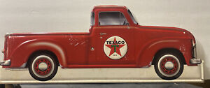 Texaco Motor Oil Red Tin Metal Truck Die cut sign RARE New 22 in length 9 in H