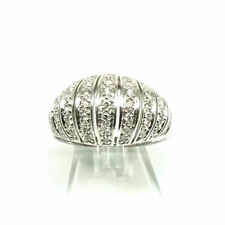 Vintage Diamant Ring Bandring mit 0.53 ct Brillanten en Pavé in 585 Weißgold